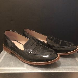 Boden Navy Patent  Leather Loafers